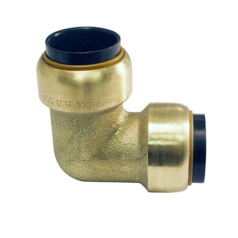 tectite   brass push  connect  degree elbow