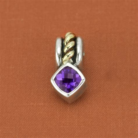 designer jewelry brands david wysor sterling silver 18k yellow gold amethyst