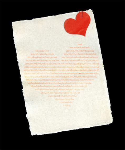 love letter psd file   psd files template