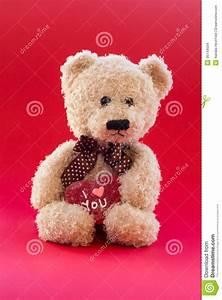 Cute Teddy Bear With Heart Cartoon Vector | CartoonDealer ...