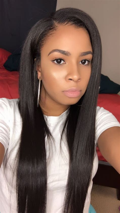 Black Weave Sew In Hairstyles by Side Part Sew In Sew Ins In 2019 Sew In Weave