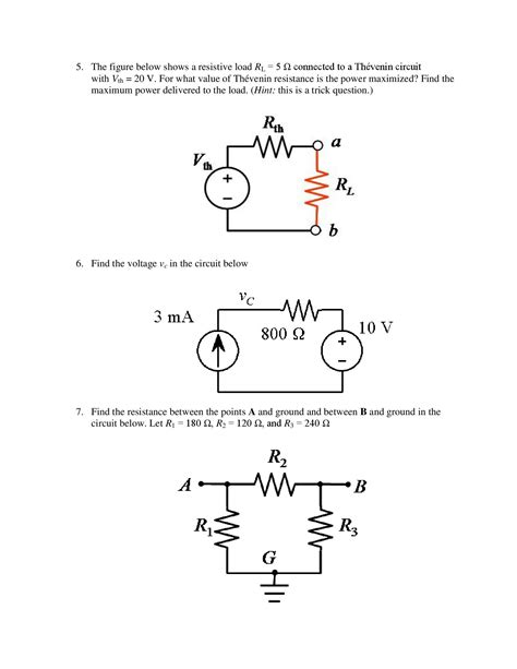 Solved Determine The Thevenin Voltage Resistance