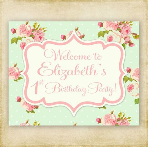shabby chic door signs shabby chic birthday or baby shower welcome door sign
