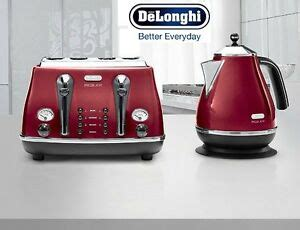 Delonghi Icona Kettle And Toaster Black by Kettle And Toaster Sets Delonghi Icona 4 Slice Toaster And