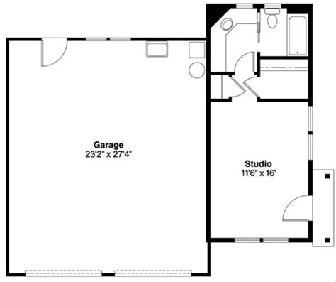 Traditional Style House Plan 1 Beds 1 Baths 350 Sqft