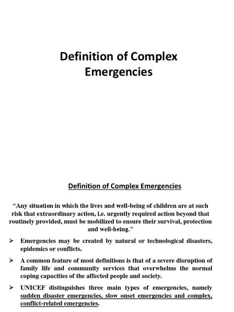 Complex Emergencies | Emergency | Humanitarian Aid