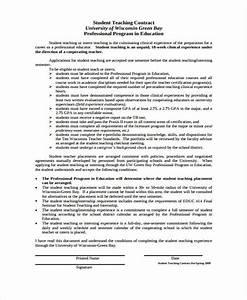 8 teacher contract templates free word pdf format With student teacher contract template