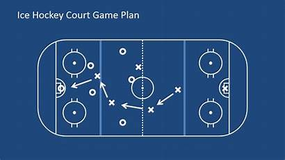Plan Hockey Court Ice Powerpoint Clipart Shapes