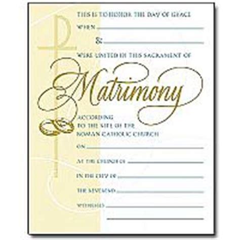 matrimony certificate