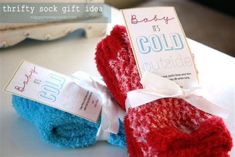 christmas gift ideas with socks thrifty sock gift idea free quot baby it s cold outside quot printable happy money saver