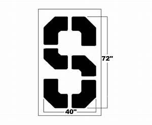 72 inch bold block letter stencil newstripe for 2 foot letter stencils