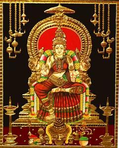 Buy Bhuvaneswari Tanjore Painting in 22 Carat Gold Madhurya