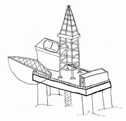 Sketch Oil Rig Coloring Project Atlas Template