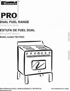Kenmore Pro 79079523600 User Manual Dual Fuel Range