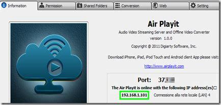 r erver si e air air playit guardare qualsiasi formato su ipod