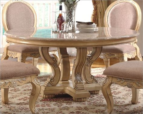 mcferran home furnishings marble top  dining table