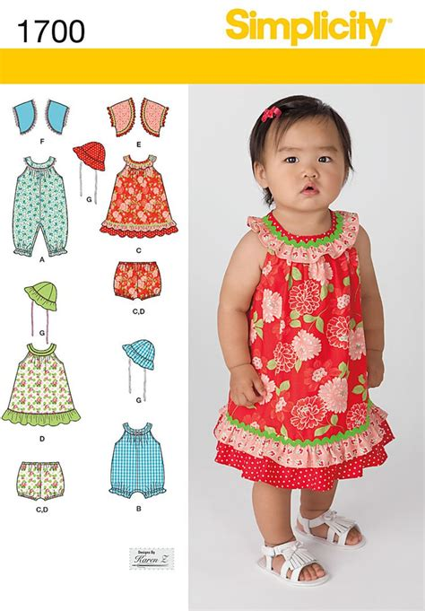 Dress Baby Angsa simplicity 1700 from simplicity patterns is a babies