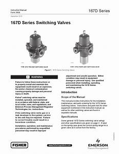167d Valve Instruction Manual By Rmc Process Controls