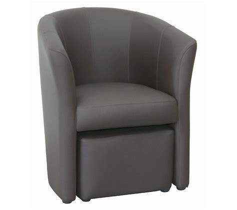 cabriolet pouf clayton polyur 233 thane taupe fauteuils but