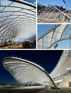 long span roof structure constructed  slender