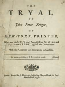Image result for Freedom of the press was established with an acquittal of John Peter Zenger