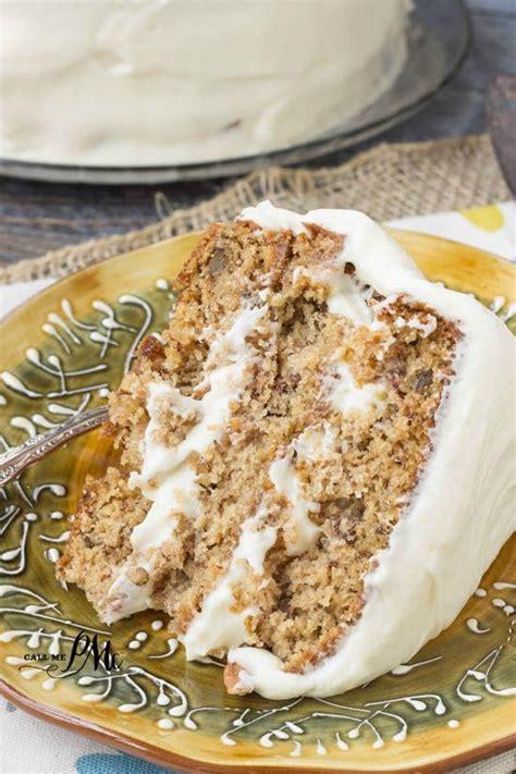 fashioned banana layer cake  cream cheese frosting