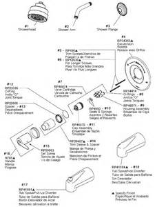 Tub And Shower Parts For Delta Monitor Series Faucets