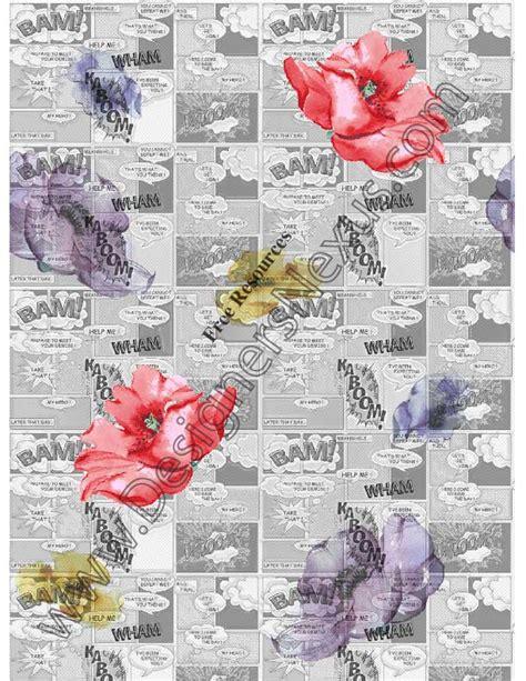 floral newspaper print   seamless fabric pattern