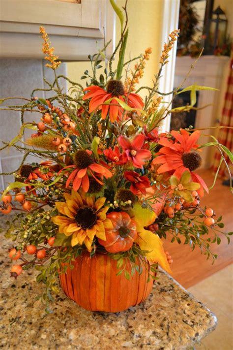 fall arrangements with pumpkins fall pumpkin basket arrangement by kristenscreations on etsy 40 00 floral arrangements