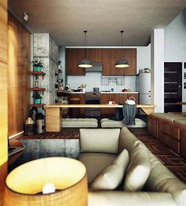 Lighting Ideas For Loft Ceilings Compact Loft Apartment With High Ceiling Creates Extra