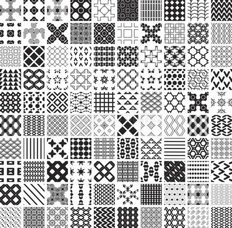printable geometric shape ornaments 100 seamless geometric patterns and ornaments in black and