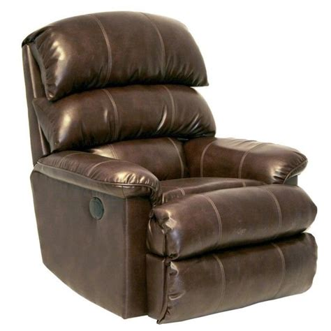 catnapper templeton leather power wall hugger recliner in