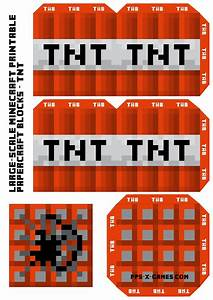 foldable minecraft character s With minecraft tnt block template