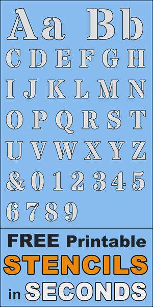 printable stencils  alphabet font  letter templates patterns monograms stencils