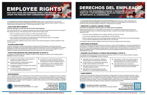 employee rights poster printed laminated family