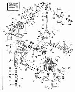 Evinrude 1996 175 - Be175gledb  Fuel Bracket  U0026 Components