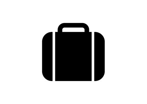 black briefcase icon simple black briefcase icon