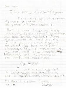 olivia takes an honest approach throwback thursday With real letter to santa