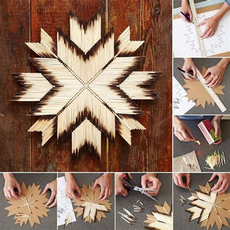 Diy Craft Project Star Made Using Matches  Find Fun Art