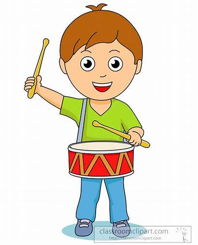 Playing Clipart Drum Drums Boy Instruments Drummer