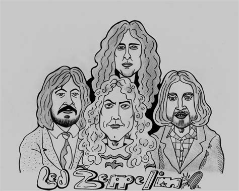 Led Zeppelin Coloring Pages Coloring Pages