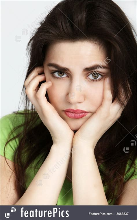 sadness expressions sad woman stock picture