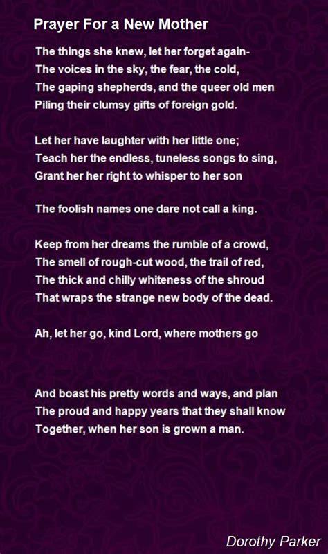 Prayer For New Mother Poem Dorothy Parker Hunter