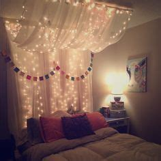 Led Lights For Uni Room by Chiffon Fabric Hanging From Ceiling In Bedroom With