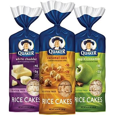 quaker gluten  rice cakes variety pack  count