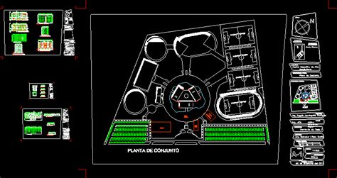 sports center  dwg design plan  autocad designs cad