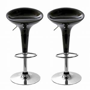 Tabouret De Bar But : tabouret de bar jazz noir lot de 2 ~ Teatrodelosmanantiales.com Idées de Décoration