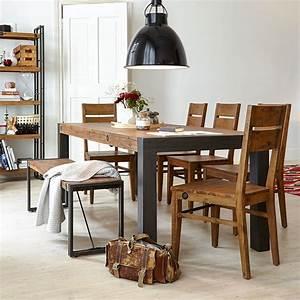 Table Bois Metal Avec Rallonge : table de salle manger extensible quel mod le choisir ~ Melissatoandfro.com Idées de Décoration