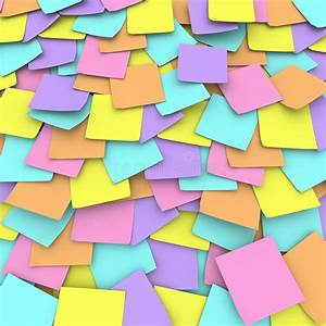 Colored Sticky Note Background Collage Stock Illustration ...
