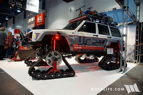 sema jcr project snowhawk jeep xj cherokee  tracks